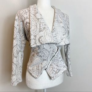 Anthropologie Moth Zip Blazer Style Jacket
